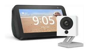 Echo Show 5 (Black) + Neos SmartCam, 2-Way Audio Smart Camera, Works with Alexa £64.99 @ Amazon