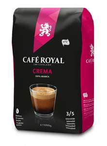 Café Royal Crema Roasted Coffee Beans, 1 kg £7.99 Prime / +£4.49 delivery Non Prime @ Amazon or £7.59 with Subscribe & Save