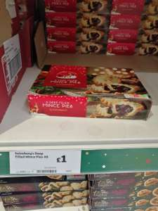 6 deep filled mince pies (355g) £1 instore and online @ Sainsbury's