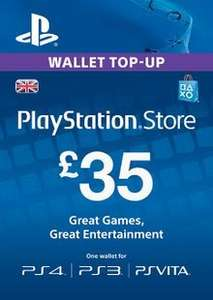 £35 Playstation Network Card (PSN) - (PS Vita/PS3/PS4) - £28.79 @ CDKEYS