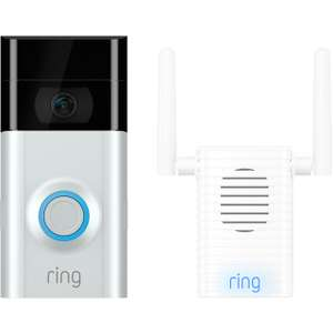 Ring Video Doorbell V2 & Chime Pro Bundle £129 @ AO