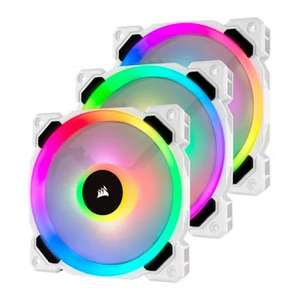 Corsair LL120 3 White Fans, 120 mm Dual Light Loop RGB LED, PWM, High Airflow Fan £64.99 @ Amazon