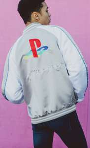 PlayStation classic jacket grey blue and black only £20.00 + £4.50 delivery @ Insert Coin Clothing