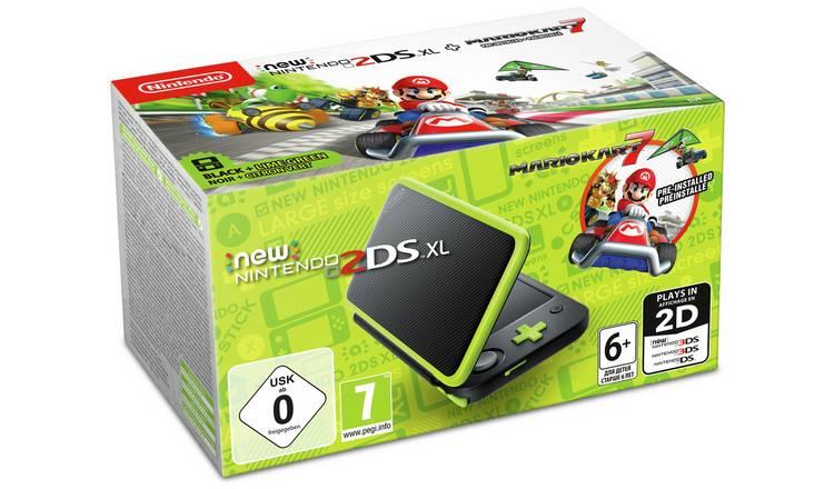 Nintendo 2DS XL Console with Mario Kart 7 (Black / Green) £111.31 Delivered @ Amazon.de