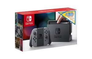 Nintendo Switch (Grey) + £30 Nintendo eShop Voucher £237.54 Like New from Amazon Warehouse (OR Neon Red / Blue Like New £256.68)