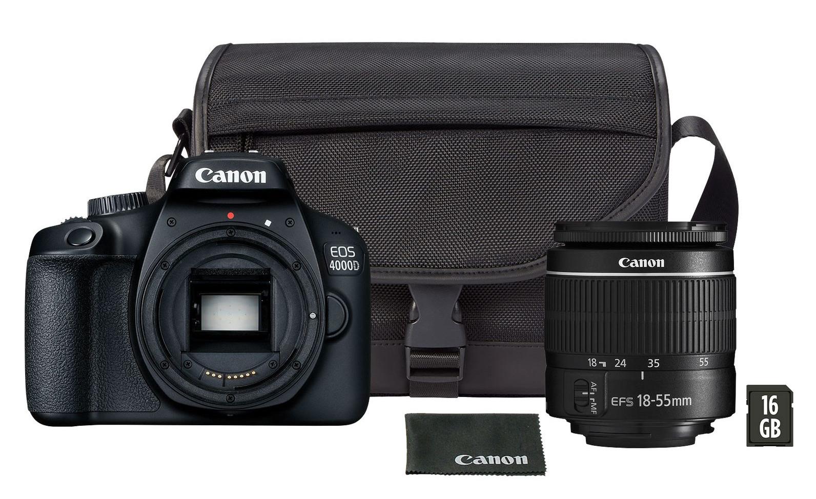 Canon EOS 4000D DSLR Camera EF-S 18-55mm Lens, Bag + 16GB card Bundle for £239.98 @ Costco (+2 yrs warranty)