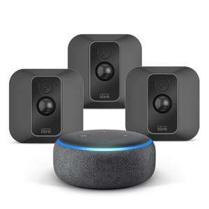 All-new Blink XT2 3-Camera System + Echo Dot (3rd Gen), Charcoal, Works with Alexa £194.99 @ Amazon