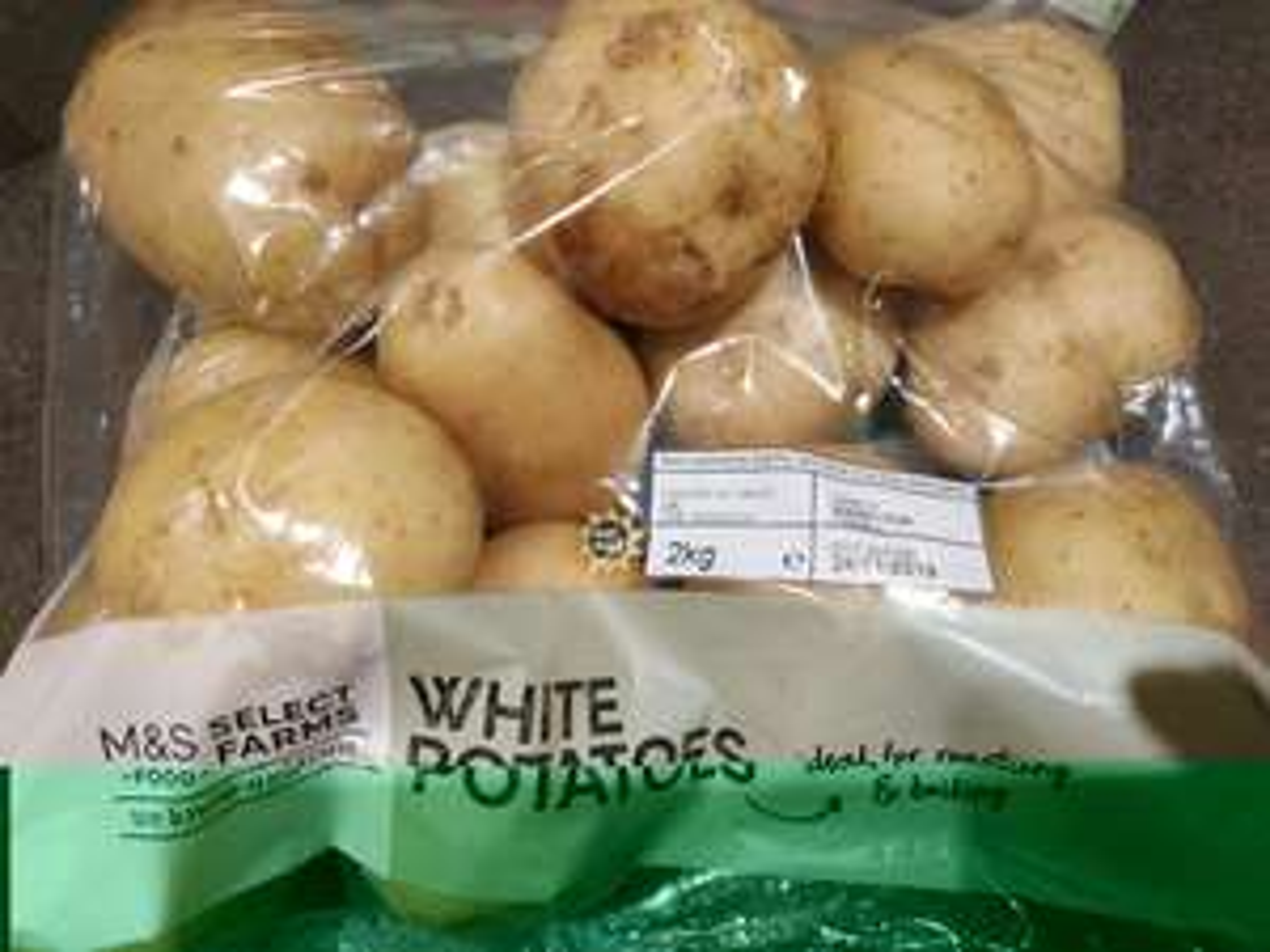 2 kgs white potatoes 0.65 fresh deals M&S Archway