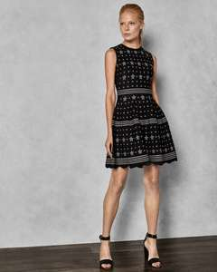 LALLYO Star jacquard lurex knitted dress £84 @ Ted Baker