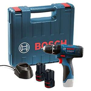 Bosch GSB 120 - LI Professional 12V with 2 x 1.5 Ah Batteries with Charger and Carry Case £52.99 delivered @ Amazon