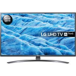 """LG 55UM7400PLB (2019) LED HDR 4K Ultra HD Smart TV, 55"""" with Freeview Play/Freesat HD, Ultra HD Certified, Dark Iron Grey"""