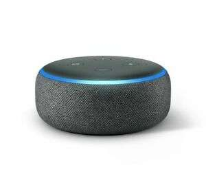Echo Dot (3rd Gen) - Smart speaker with Alexa - Charcoal Fabric at Currys / Ebay for £22