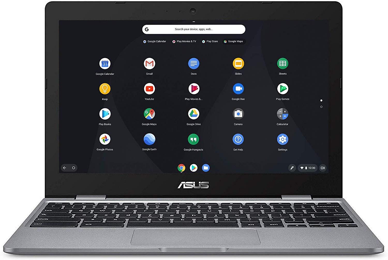 ASUS Chromebook C223NA (Grey) Intel Celeron N3350, 4 GB RAM, 32 GB eMMC, 11.6 Inch HD Screen, Chrome OS at Amazon £149
