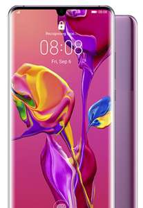 Huawei P30 Pro 120GB / unltd minutes/texts for £1,032 (£396.00 Cashback reduces to £636, monthly £43.00 to £26.50) at Mobile Phones Direct
