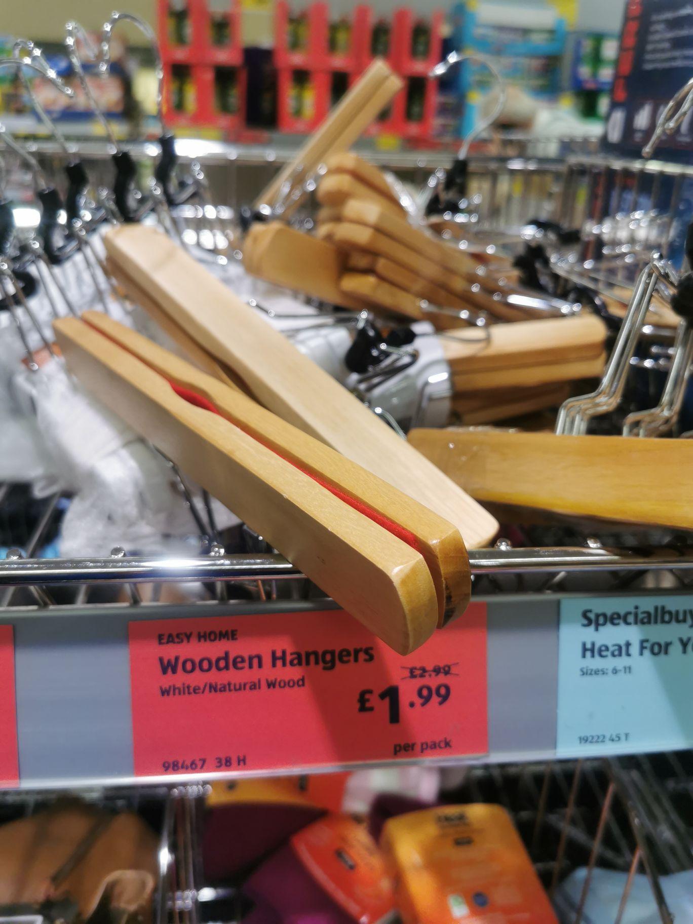 Wooden Hangers (Five Pack) £1.99 at Aldi
