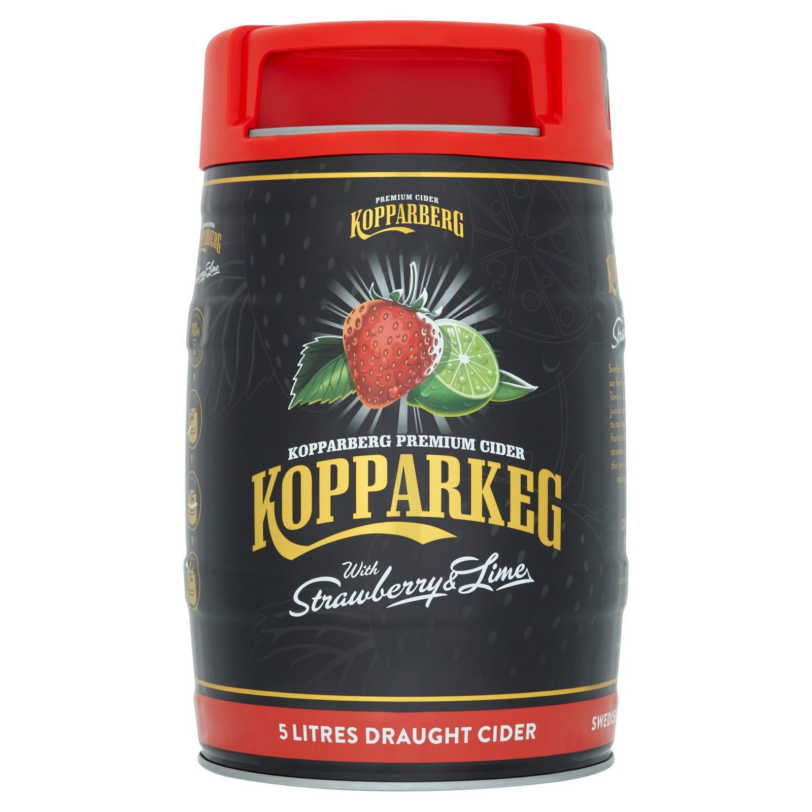 Keg (5 liters) Strawberry & Lime Kopperberg - £10 Home Bargains in store Harlow