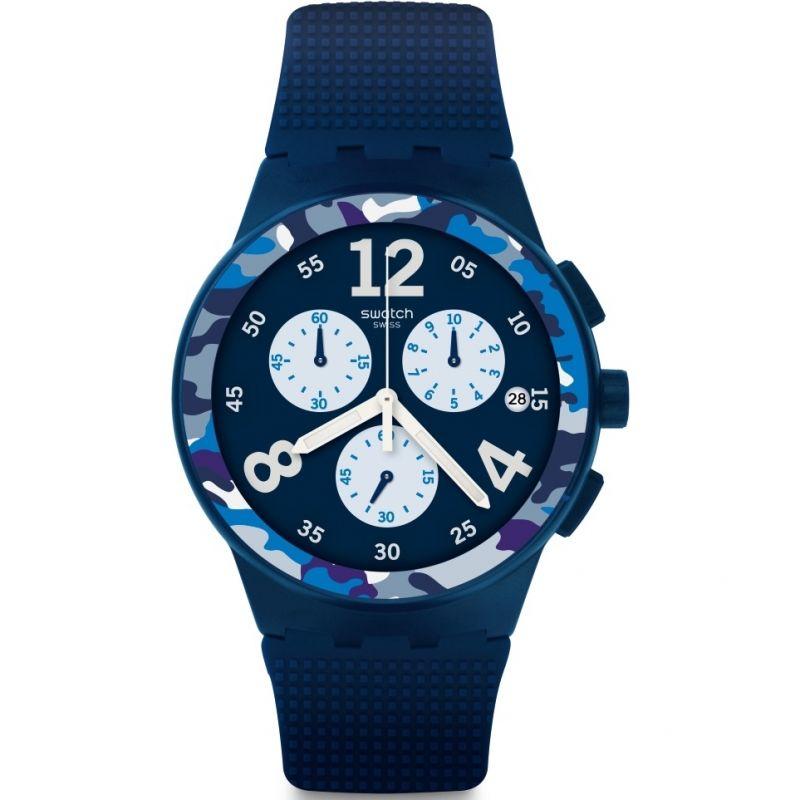 Unisex Swatch Camoblu Chronograph Watch SUSN414 £58.50 at Watch Shop