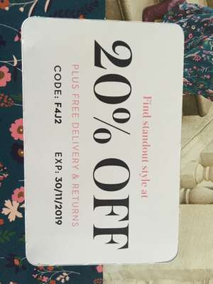 20% off at Boden