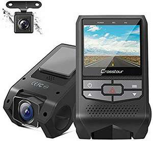 Crosstour Dash Cam Front and Rear Dual FHD 1080P Mini In Car Camera £31.98 with voucher Sold by Mars Elec and Fulfilled by Amazon.