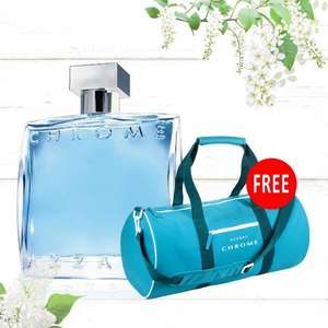 Mens Azzaro Chrome Eau de Toilette 100ml Spray + Azzaro Chrome Duffle Bag £22.95 with code + Free Sample @ Beauty Base