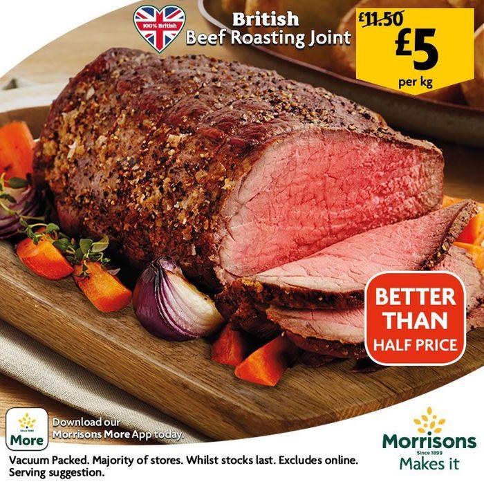 British Beef Roasting Joint £5 per kg @ Morrisons InStore