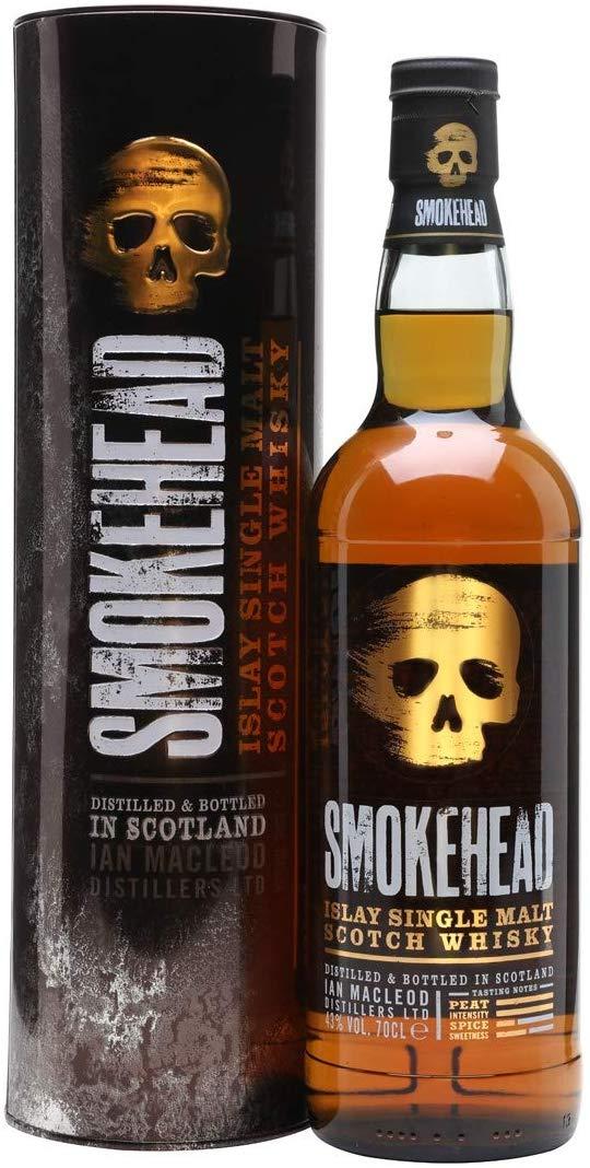 Smokehead Single Islay Malt Whisky 70 cl reduced to £26.53 at Amazon