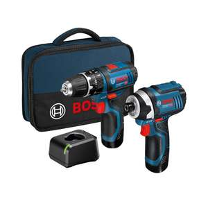 Bosch 12v Twin pack, Impact and driver - £119.99 @ ITS