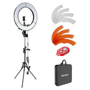 "Neewer Camera / Phone Light Kit - 18"" LED Ring With Filter / Tripod / Bluetooth Receiver / Carry Bag £38.70 Sold by Nashes Camspace / Amazon"