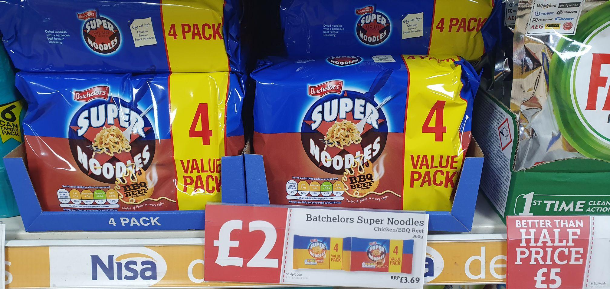 Super Noodles 4 Pack instore @ Nisa £2