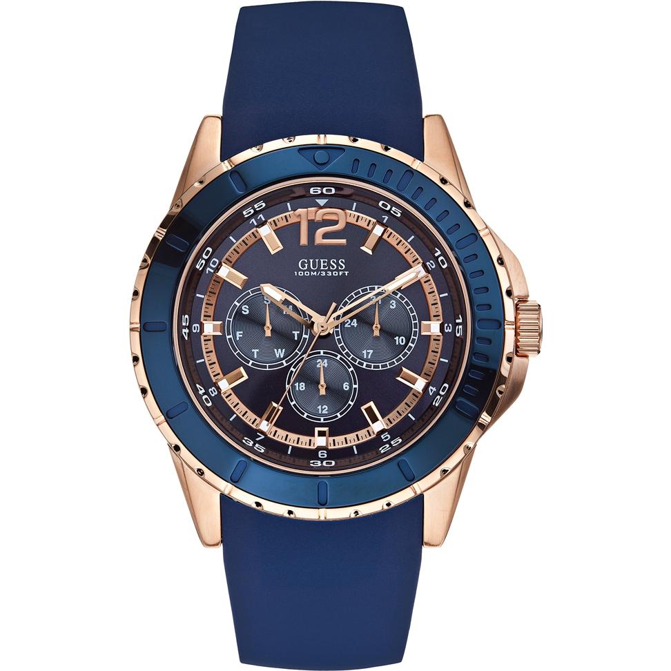 Guess Men's Analogue Quartz Watch with Leather Bracelet – W0485G1 - £75 @ Amazon