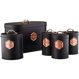 Cooks Professional Kitchen Storage Set - Black & Copper or Grey & Copper for £20 @ Robert Dyas (Free click+collect)