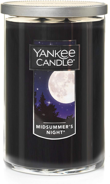 Yanke Candle Company Yankee Midsummer's Night Large 2-Wick Tumbler Candle, Fresh Scent, Black £7.49 at Amazon