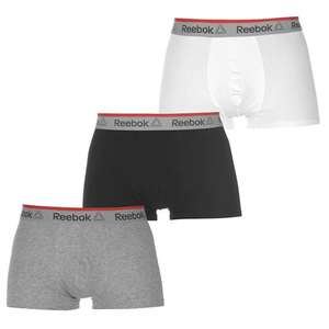 3 pack Reebok Mens Boxers for £11.99 @SportsDirect
