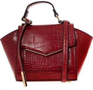 DUNE Red Reptile Effect Winged Cross Body Bag £29.99 +£1.99 click and collect @ Tk Maxx