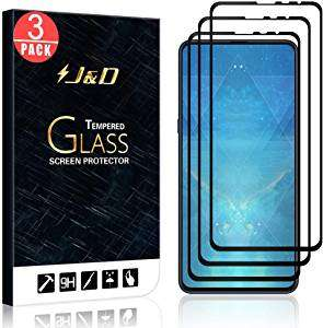 3-Pack Mi Mix 3 Screen Protector, [No Lifted Edges] Ballistic Tempered Glass - Sold by J&D Tech UK / FBA - £6.95 Prime (+£4.49 NP)