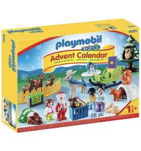 PLAYMOBIL - 1.2.3 9391 Advent Calendar, Christmas in the Forest, For Children Ages 18 Months - £16.99 @ Amazon Prime (+£4.49 non-Prime)