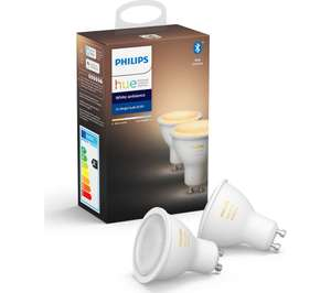 6 x Philips Hue GU10 White Ambience Bluetooth bulbs at Currys for £70.33