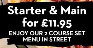 Starter And Main For £11.95 at Pizza Express