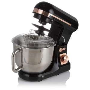 Tower T12033RG Stand Mixer 6 Speeds & Pulse, 5L Stainless Steel Mixing Bowl +Accessories, 1000W, Black Rose Gold - £76.49 @ Amazon