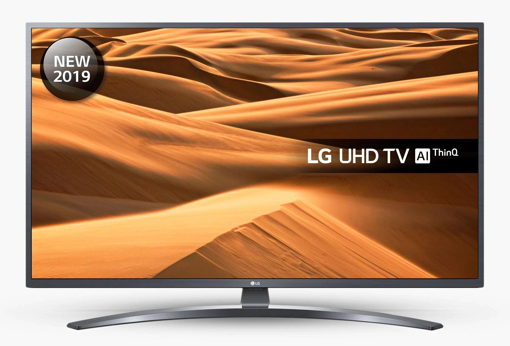 "LG 55UM7400PLB (2019) LED HDR 4K UHD Smart TV, 55"" with Freeview Play/Freesat HD, Dark Iron Grey - £399 @ John Lewis & Partners"