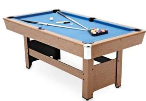 Crane 6ft Pool Table with Accessories & return ball system - £186.94 delivered @ Aldi
