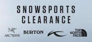 Snowsports Clearance at Snow and Rock