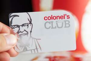 R.I.P Plastic KFC Colonels Card :(