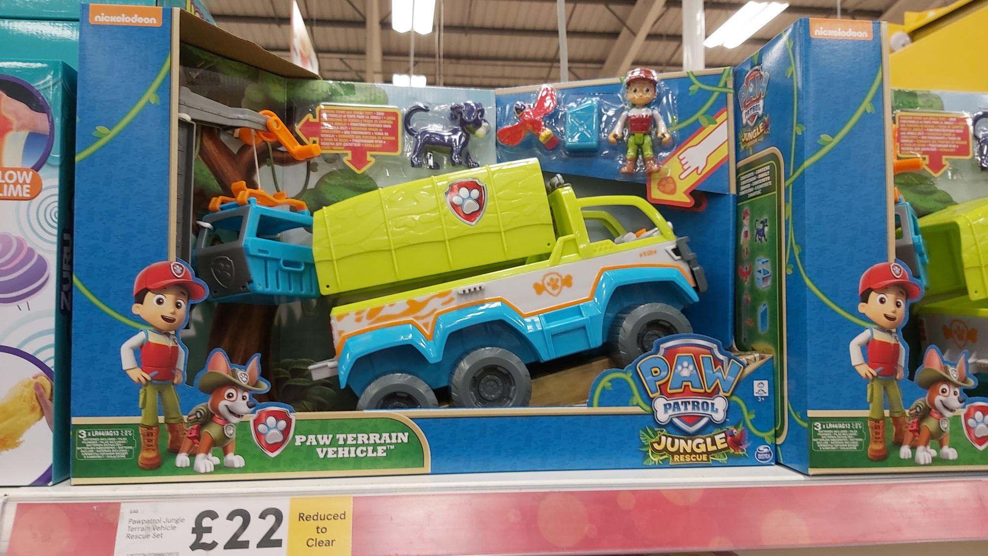 Paw Patrol Jungle Rescue Paw Terrain Truck £22 instore @ Tesco Forge Retail Park, Glasgow
