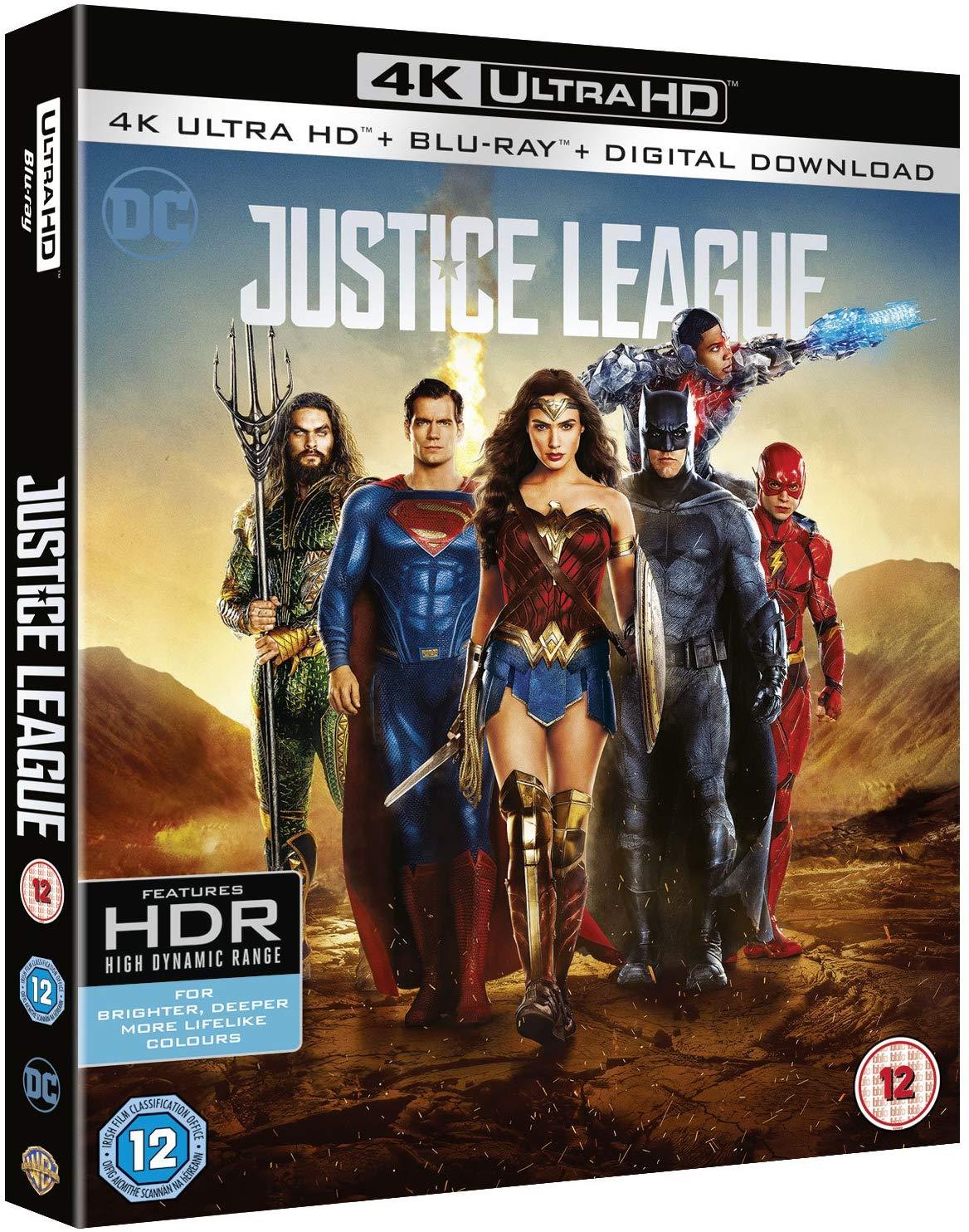 Justice League [4k Ultra HD + Blu-ray + Digital Download] [2017] £9.99 @ Amazon Prime / £12.98 Non Prime