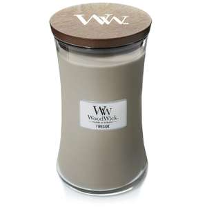 WoodWick Large Hourglass Scented Candle, Fireside £14.99 Prime / £19.48 Non Prime at Amazon