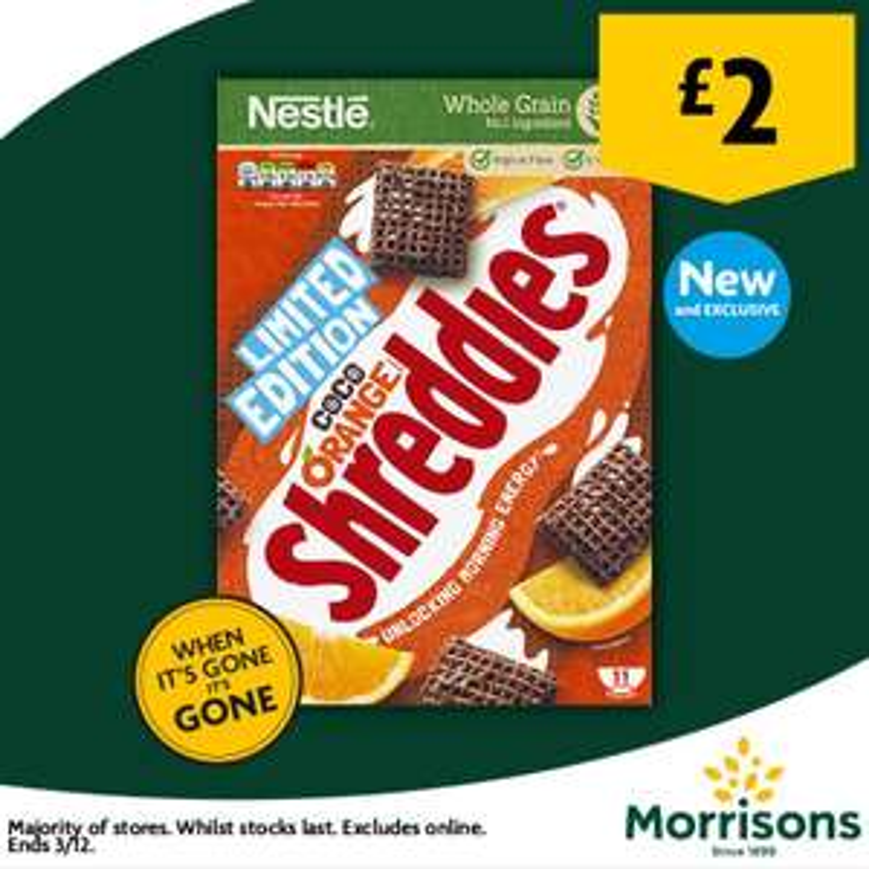 Nestle's Coco Orange Shreddies £2.00 @ Morrisons Instore