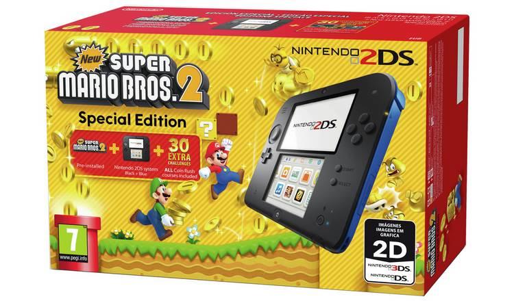 Nintendo 2DS Console with Super Mario Bros 2 Game Bundle £79.99 @ Argos (Free Click & Collect)