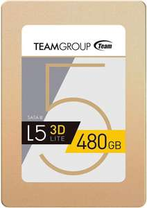 """TeamGroup 480GB L5 Lite SSD 2.5"""" SATA 6Gbps 3D NAND Solid State Drive £39.95 at Amazon"""