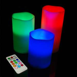 Colour Changing Flickering Flameless Led Wax Mood Candles Vanilla Scented £7.99 @ ebay / storetasticuk
